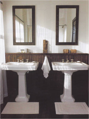 my first little place: wooden bathroom floors