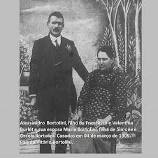 Alessandro e Maria Bortolini, pais do Nono Vitório Bortolini