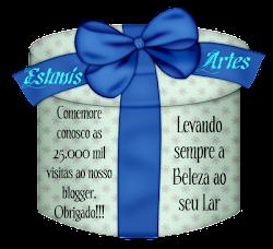 Selinho das 25.000 visitas da Amiga Estanis