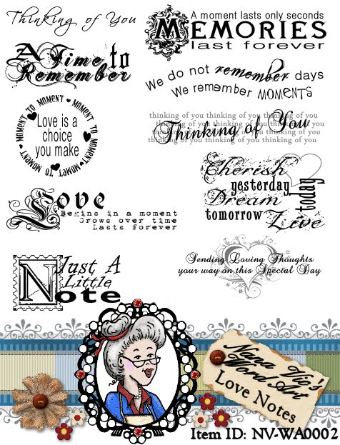 Word Art Love Notes