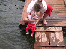 Introducing Hailey to the lake