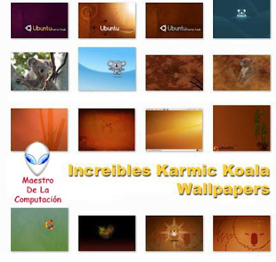 Coleccion de Wallpapers de Ubuntu 9.10 Karmic Koala