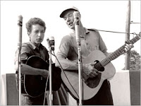 Bob Dylan and Pete Seeger at the Newport Folk Festival, July 28, 1963