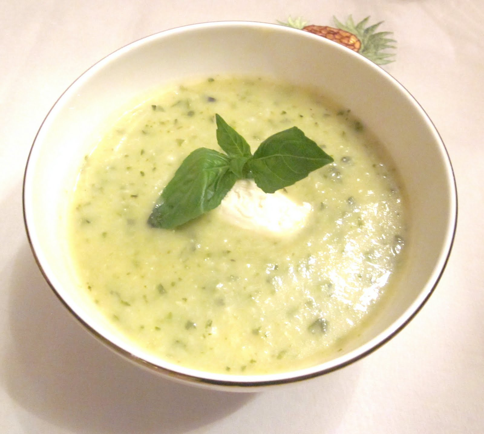 The Glamorous Gourmet: Easy, Elegant Italian: Zucchini Basil Soup and ...