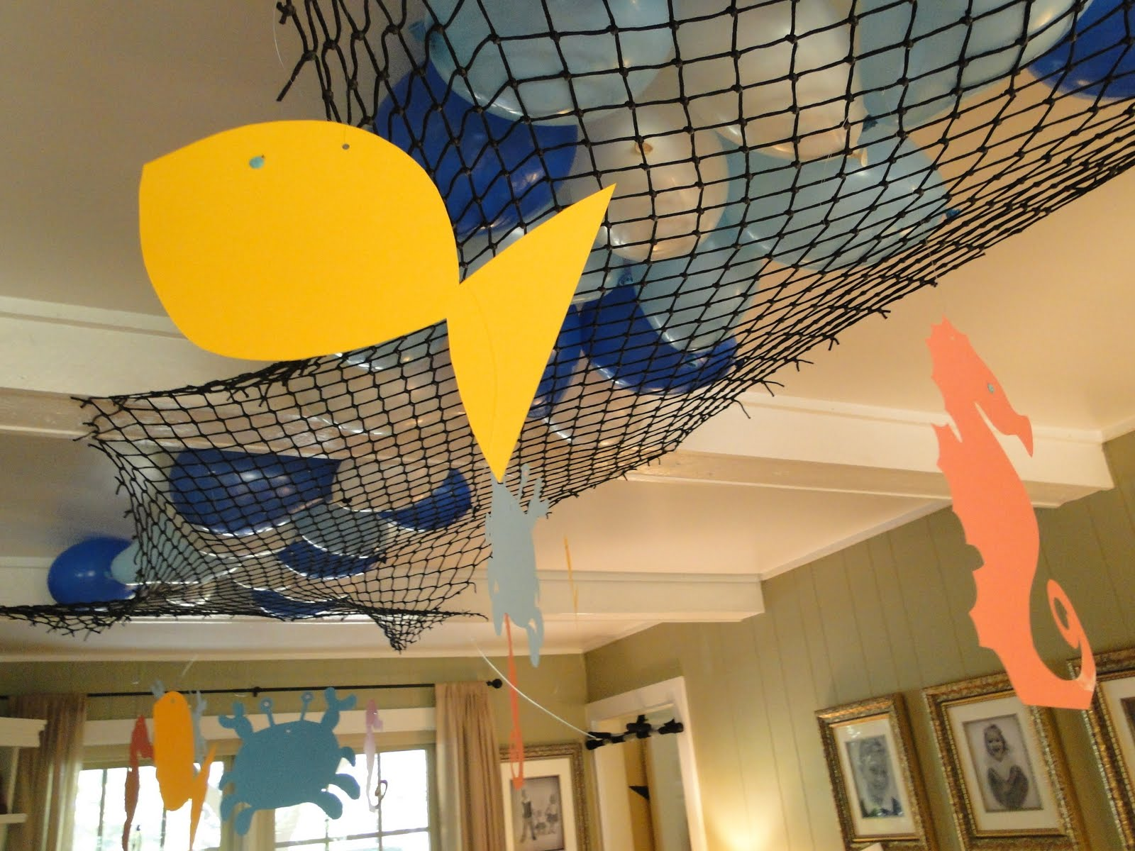 Diy under the sea on pinterest printable party under for Net decoration ideas