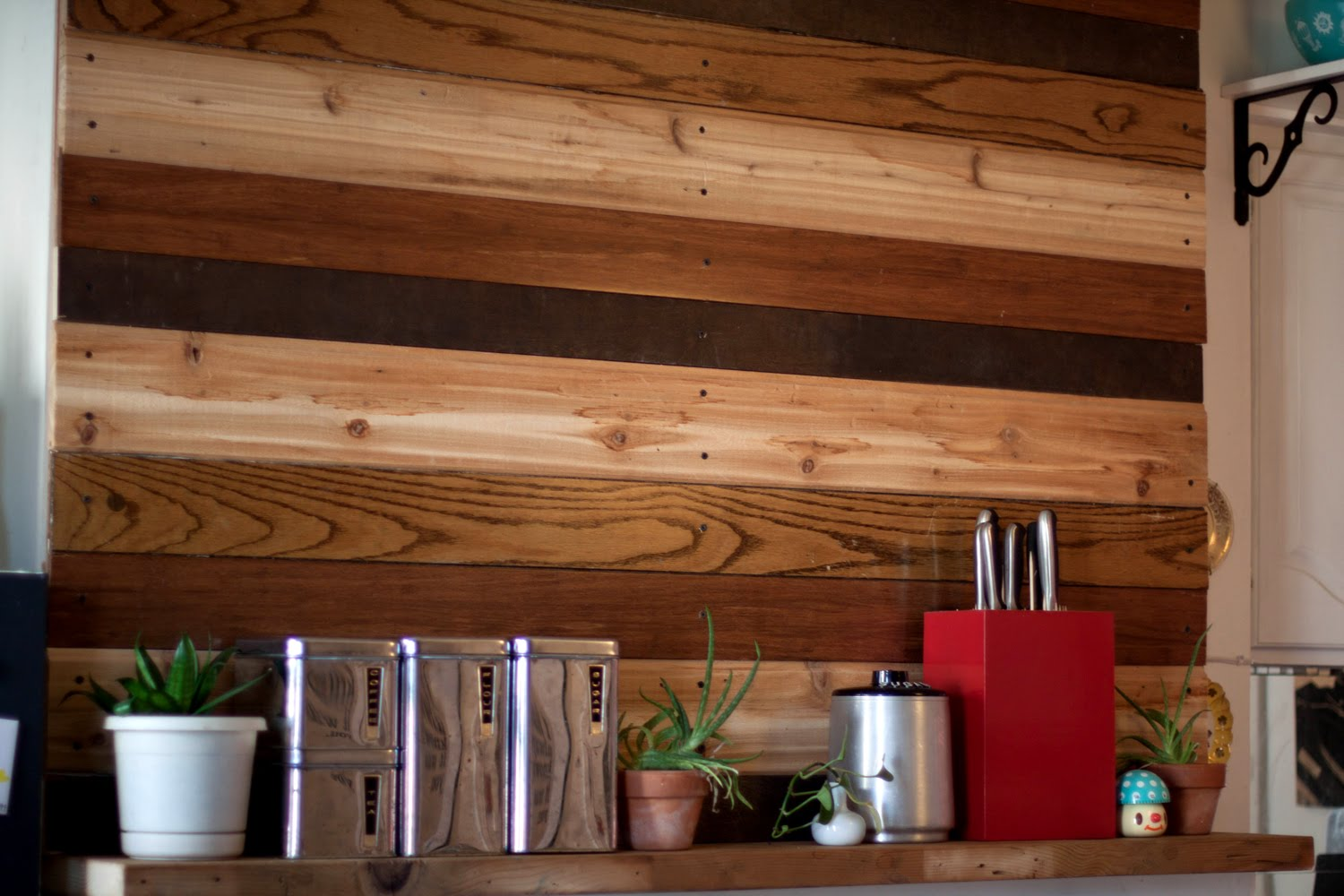 Wall Design In Wood : Nest reclaimed wood wall