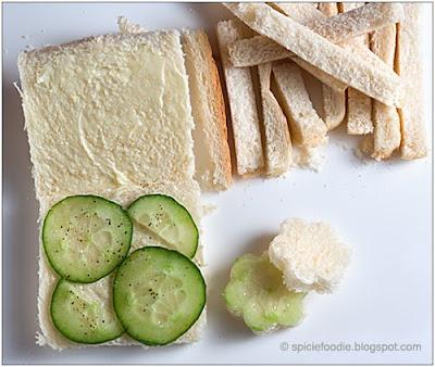 tea sandwich ingredients