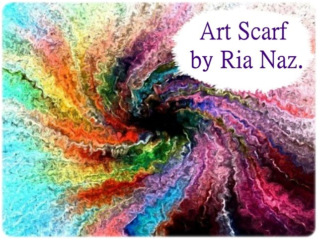 Art Scarf by Ria Naz.