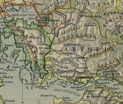 Ο Χάρτης της Αιτωλοακαρνανίας περίπου 2500 χρόνια πριν