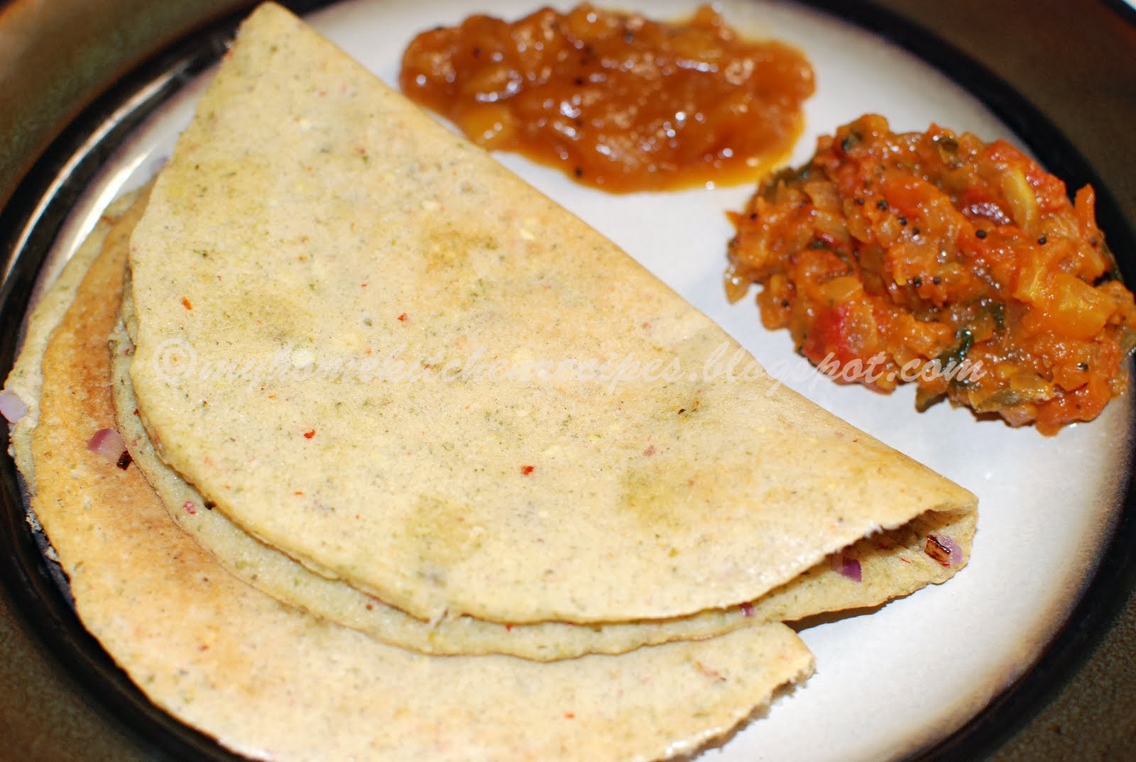 Mixed Lentil Adai Indian Breakfast Dinner Recipe From