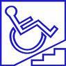 Rampa en escalera para silla de ruedas