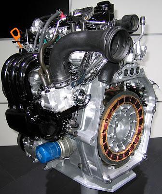 Схема гибридного двигателя