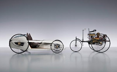 Mercedes-Benz F-Cell Roadster и Benz Patent-Motorwagen