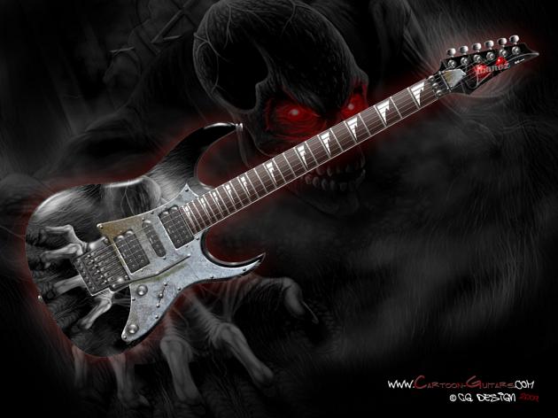 wallpaper lucu dan unik. Gitar-gitar Unik