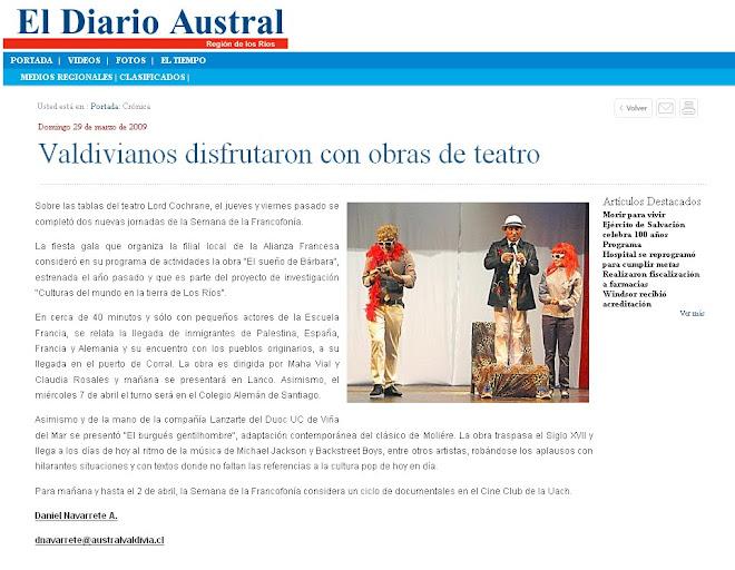 Semana de la Franconfonía..Alianza Francesa Sur de Chile.