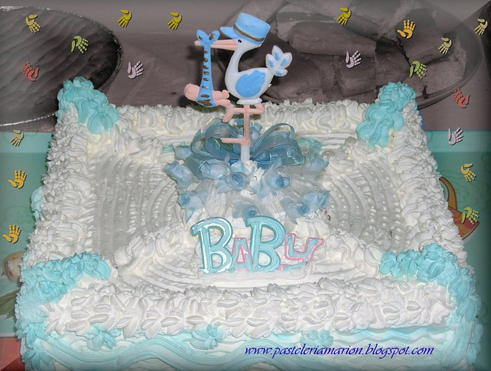 torta baby shower para nino biscocho de chocolate con manjar y nuez 40 ...