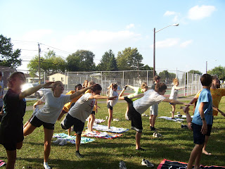 Gloucester Catholic Cross Country team concludes practice with Yoga