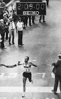 Greg Meyer wins 1983 Boston Marathon