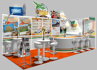 Exhibition Stand Booth Design - Cosmo Travel & Tours