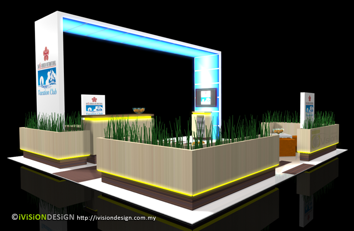 Exhibition Booth Design Swiss Garden Ivision Design Malaysia