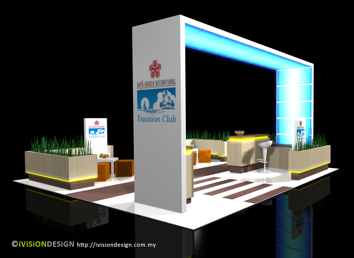 Exhibition Booth Design perspective view 2