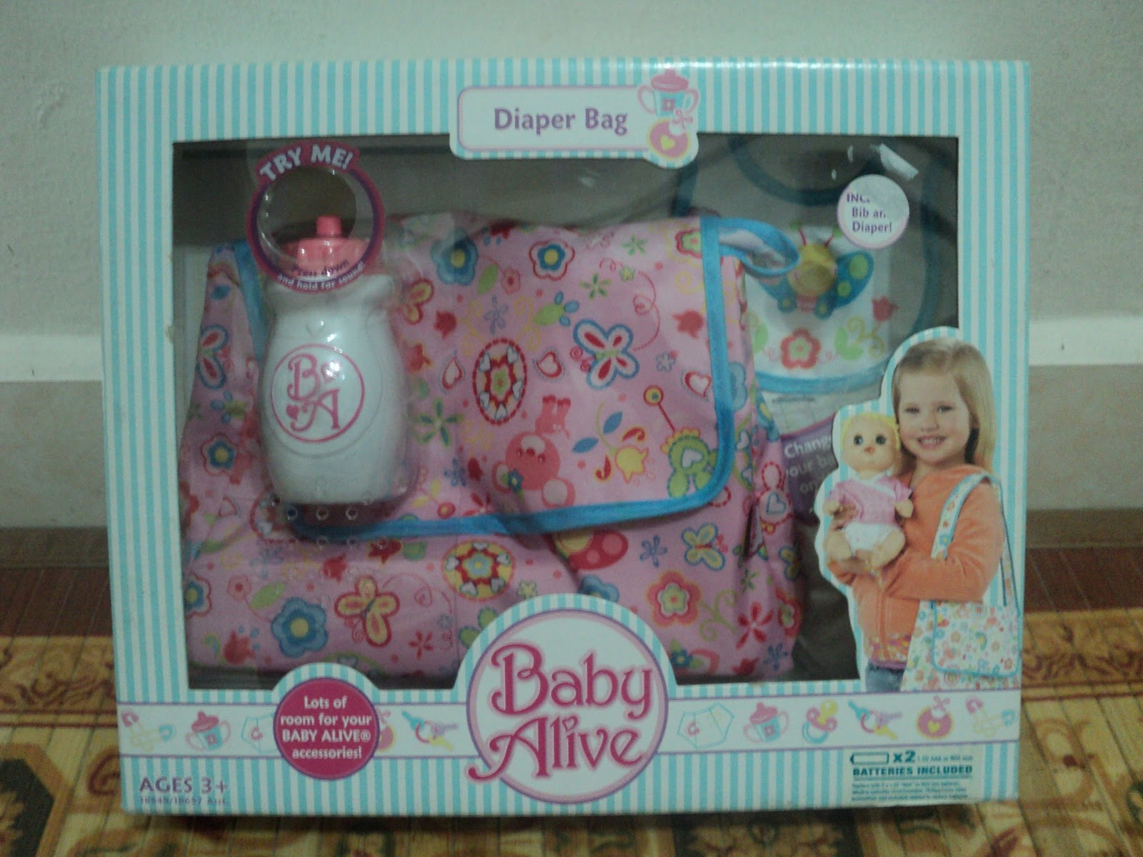 Nurul Azham S Shoppe Baby Alive Diaper Bag With Bib And