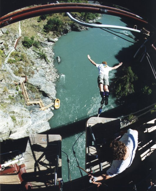 Auckland Bridge Bungy - AJ Hackett Bungy Jumping, Auckland.