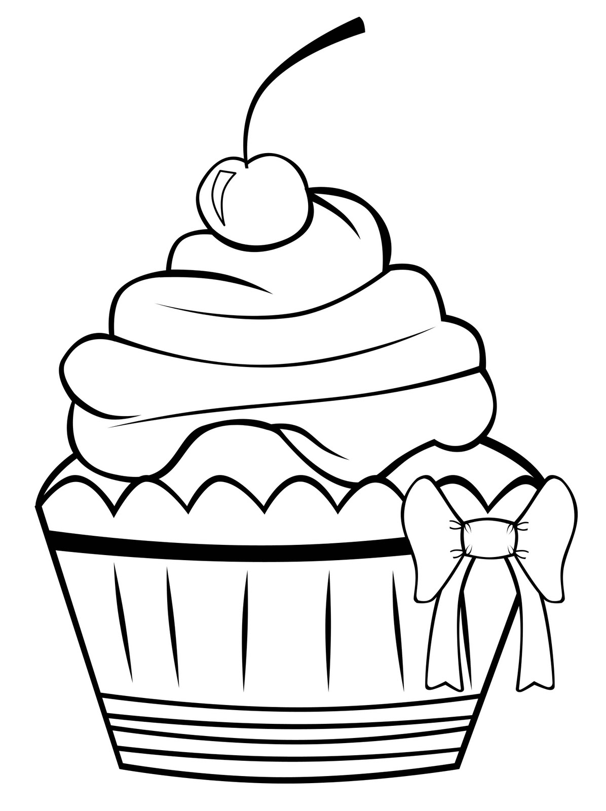 Coloring Pages For Kids Printable : Cupcakes coloring pages free printable pictures