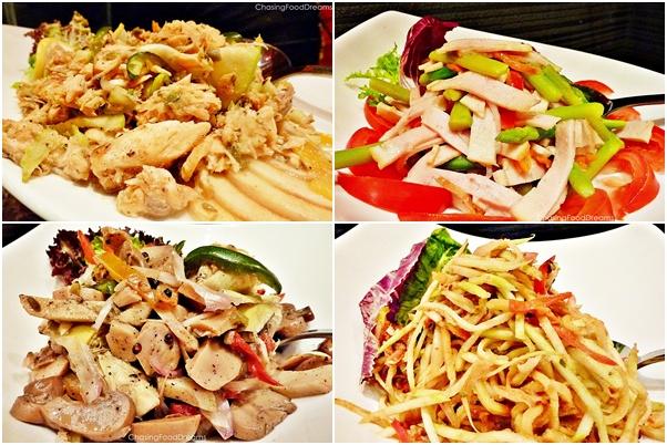 ... Salad, Ham and Asparagus Salad, Kerabu Mango Salad & Mushroom Salad