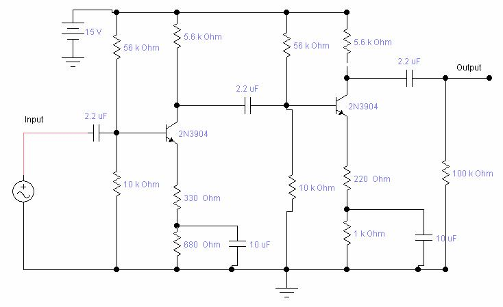 Rangkaian Amplifier Dengan Transistor   Rangkaian Amplifier Transistor ...
