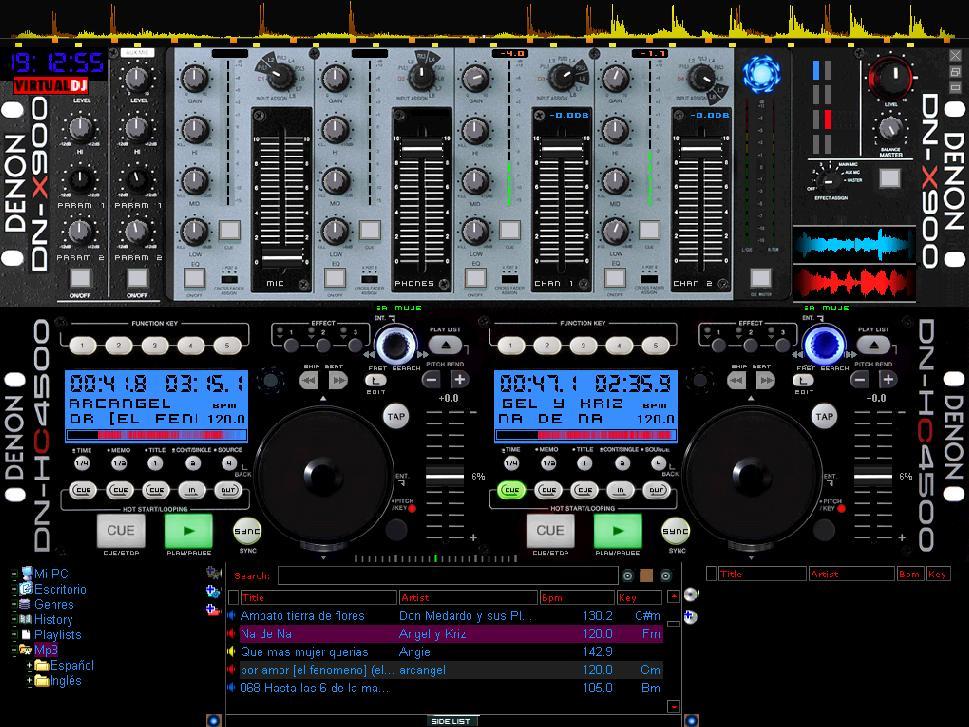 Descarga el Skin HC4500 V6 para Virtual DJ 5 y 6Virtual Dj Skins Denon
