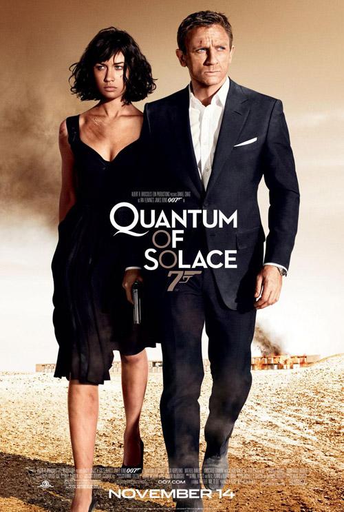 007, quantum of solace, james bond, poster