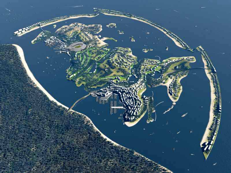 Federation Island in Sochi, Russia