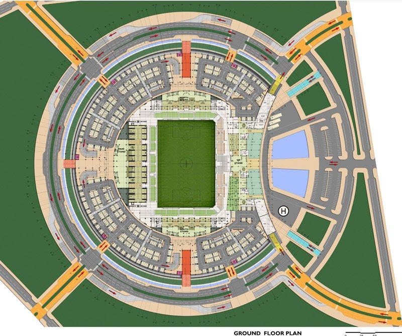 qatar, underground stadium, wall