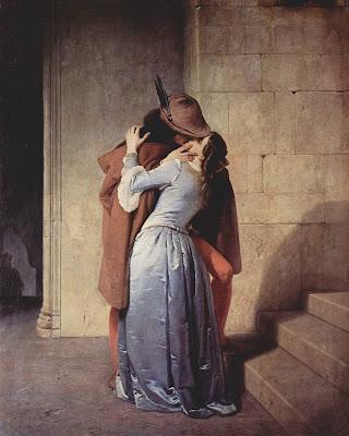 francesco hayez, il bacio, dipinto