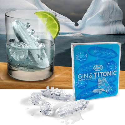 gin and titonic, ice tray