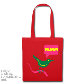 burp bird shopping bag