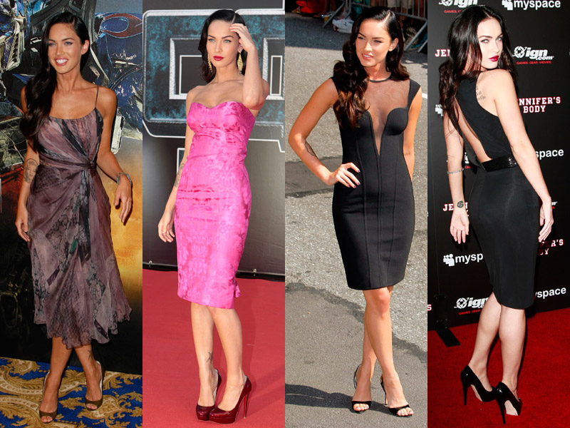 megan fox, looks, red carpet