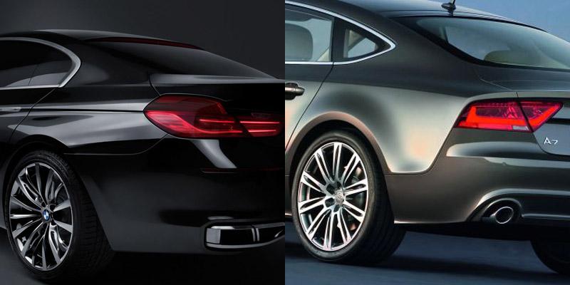 audi a7 sporback, bmw gran coupé concept