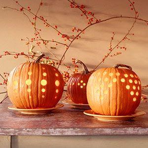 stylish pumpkin carving