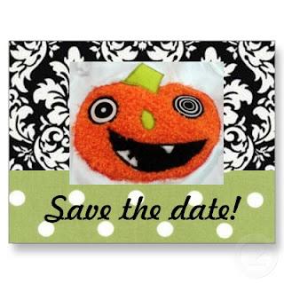 pumpkin save the date card