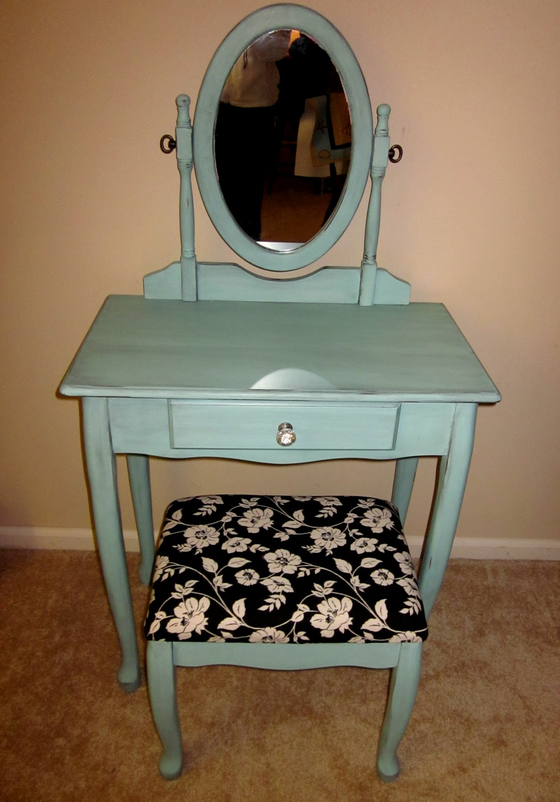 Uniquely chic furniture turquoise vanity turquoise vanity geotapseo Images
