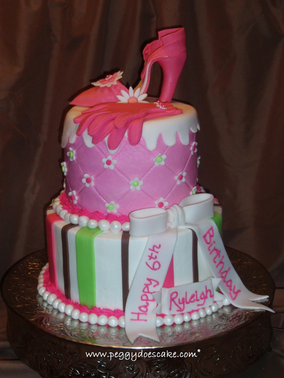 Peggy Does Cake Cake Update Ryleighs High Heel Shoe And Pearls
