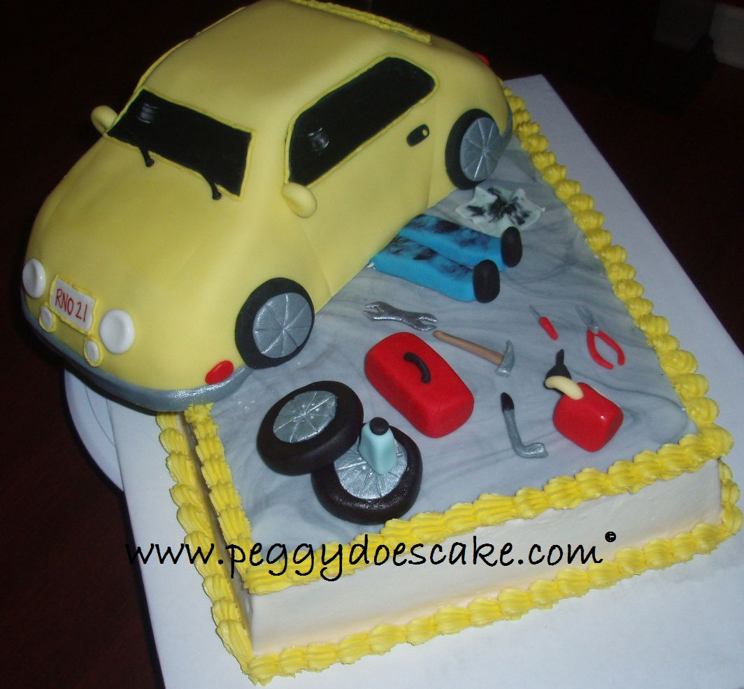 Peggy Does Cake Roberts Mechanic Cake click on photos to enlarge