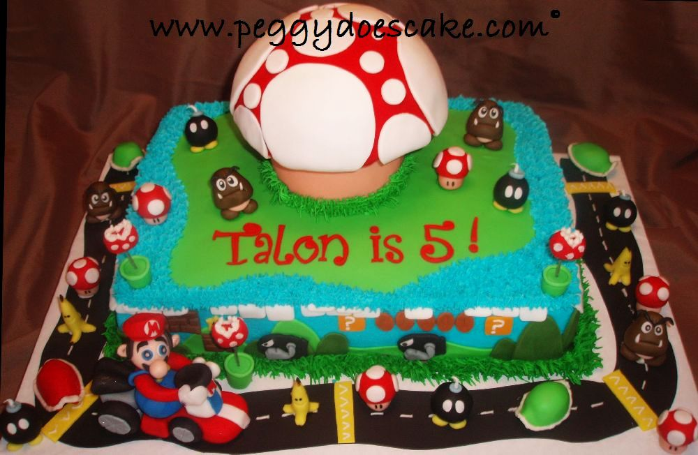 Peggy Does Cake Talons Mario Brothers Cake Click Any Photo To
