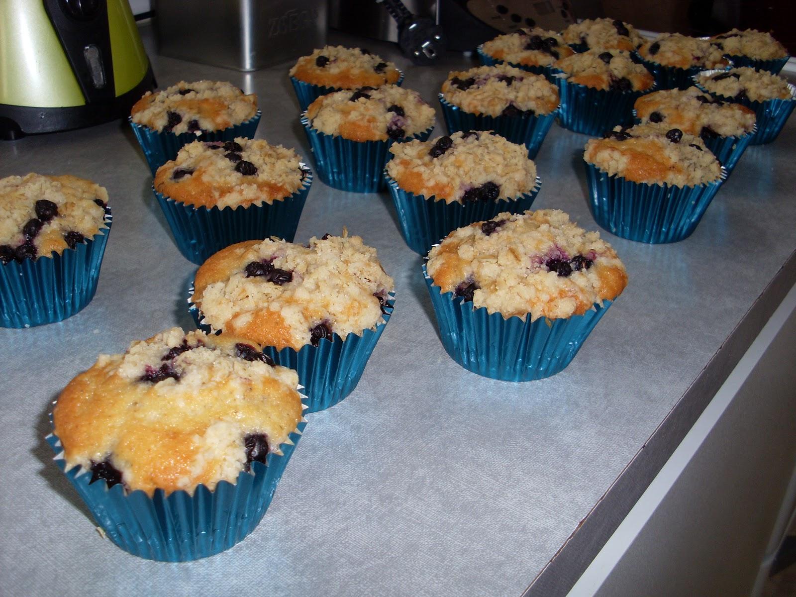 muffins havregryn blåbär