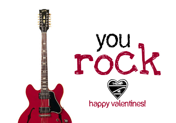 This is an image of Nerdy You Rock Valentine Printable