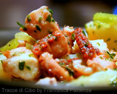 polpo, polipo, insalata, patate, octopus, pressure cooker