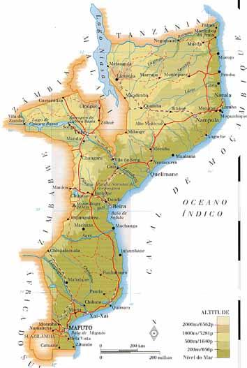 Geografia Sem Fronteiras MOAMBIQUE Economiasmapa geogrfico