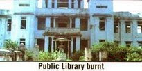 Jaffna public library burnt